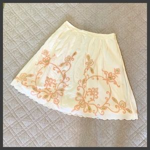 🆕🦋 Anthro Viola Vintage Style Embroidered Skirt